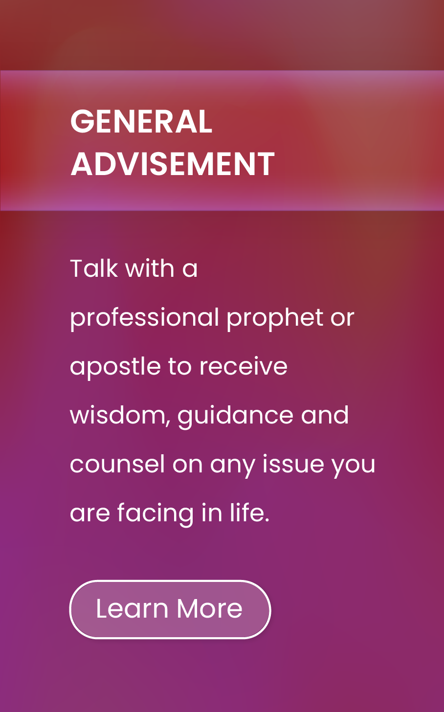 General Advisement
